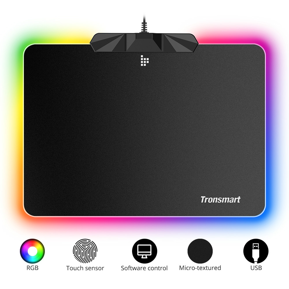 mouse-pads Tronsmart Shine X RGB Gaming Mouse Pad USB Mat with 16.8 Million Colors Non-slip Base Optimized for Gaming Sensors Tronsmart Shine X RGB Gaming Mouse Pad USB Mat with 16.8 Million Colors Non slip Base Optimized for Gaming Sensors 1