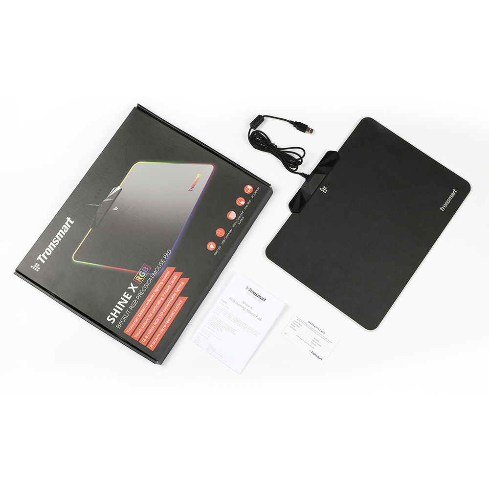 mouse-pads Tronsmart Shine X RGB Gaming Mouse Pad USB Mat with 16.8 Million Colors Non-slip Base Optimized for Gaming Sensors Tronsmart Shine X RGB Gaming Mouse Pad USB Mat with 16.8 Million Colors Non slip Base Optimized for Gaming Sensors 10