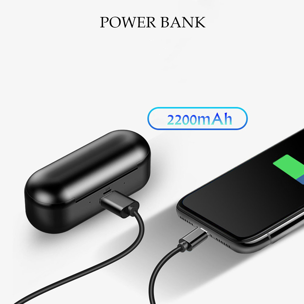 earbud-headphones X8 TWS Bluetooth 5.0 Earbuds 2200mAh Support Charging for Phones About 5 Hours Working Time Noise Reduction-Black X8 TWS Bluetooth 5.0 Earbuds 2200mAh Support Charging for Phones About 5 Hours Working Time Noise Reduction Black 2