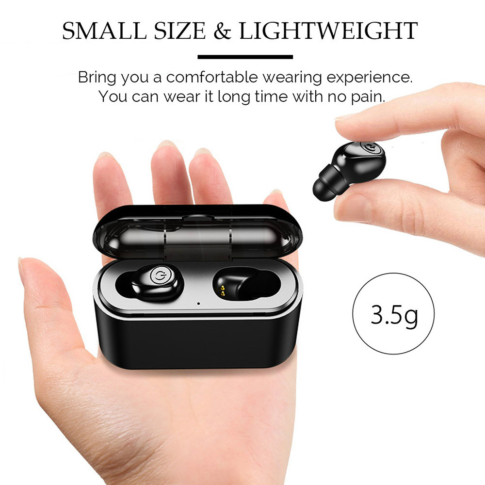 earbud-headphones X8 TWS Bluetooth 5.0 Earbuds 2200mAh Support Charging for Phones About 5 Hours Working Time Noise Reduction-Black X8 TWS Bluetooth 5.0 Earbuds 2200mAh Support Charging for Phones About 5 Hours Working Time Noise Reduction Black 3
