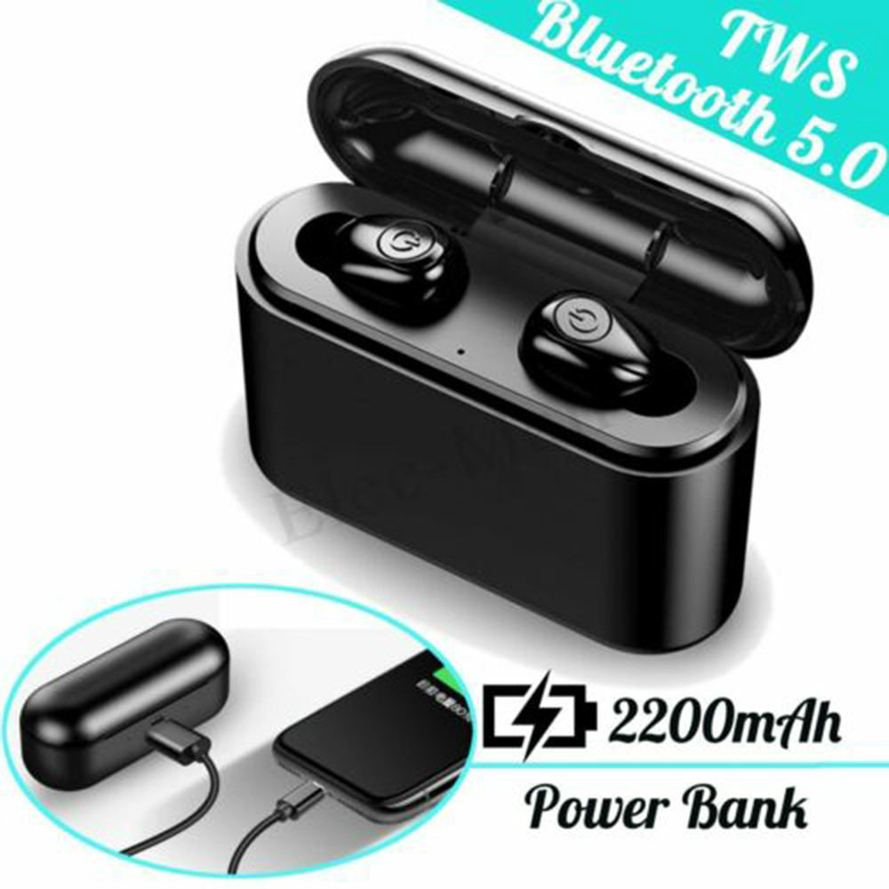 earbud-headphones X8 TWS Bluetooth 5.0 Earbuds 2200mAh Support Charging for Phones About 5 Hours Working Time Noise Reduction-Black X8 TWS Bluetooth 5.0 Earbuds 2200mAh Support Charging for Phones About 5 Hours Working Time Noise Reduction Black 4