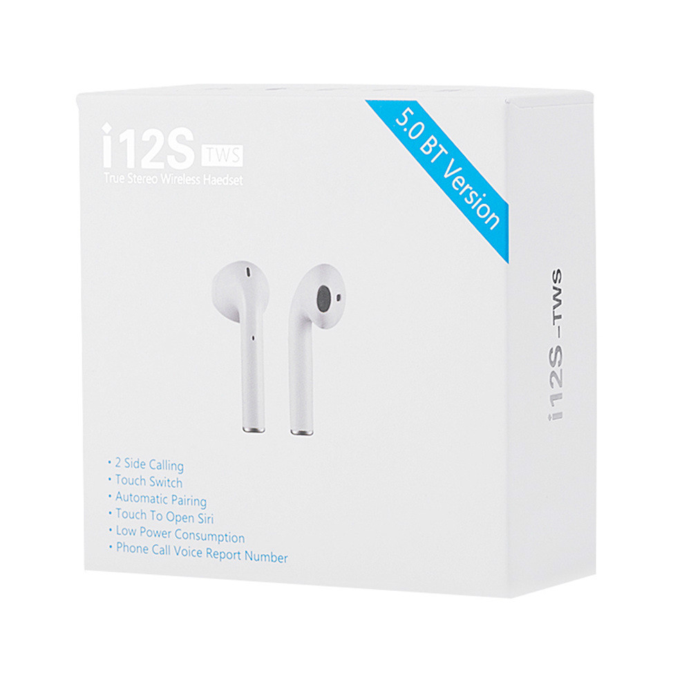 earbud-headphones i12S TWS Bluetooth 5.0 Earbuds Tap Control Stereo Sound-White i12S TWS Bluetooth 5.0 Earbuds Tap Control Stereo Sound White 6