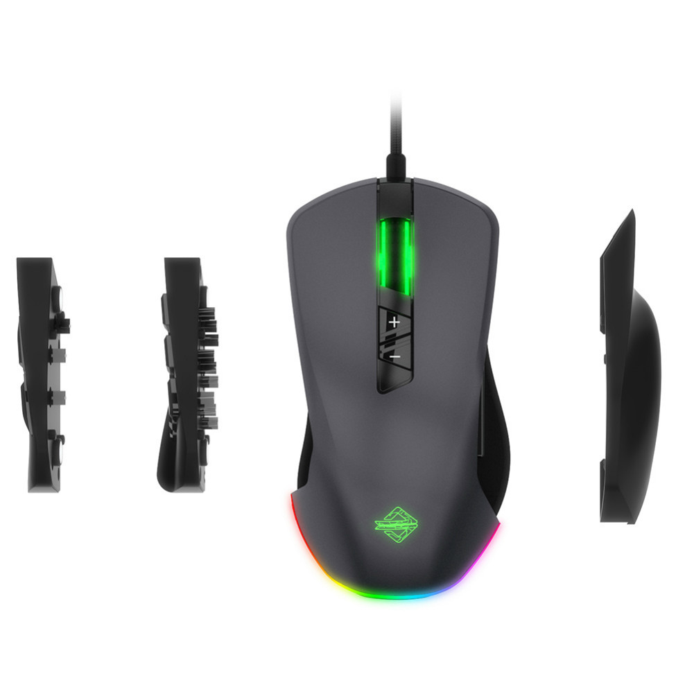 wired-mouse AJAZZ GTI 5000DPI 3/9 Buttons Mice Adjustable Lighting Effects Optical USB Wired Mouse Optical Gaming Mouse-Gray AJAZZ GTI 5000DPI 3 9 Buttons Mice Adjustable Lighting Effects Optical USB Wired Mouse Optical Gaming Mouse Gray 5