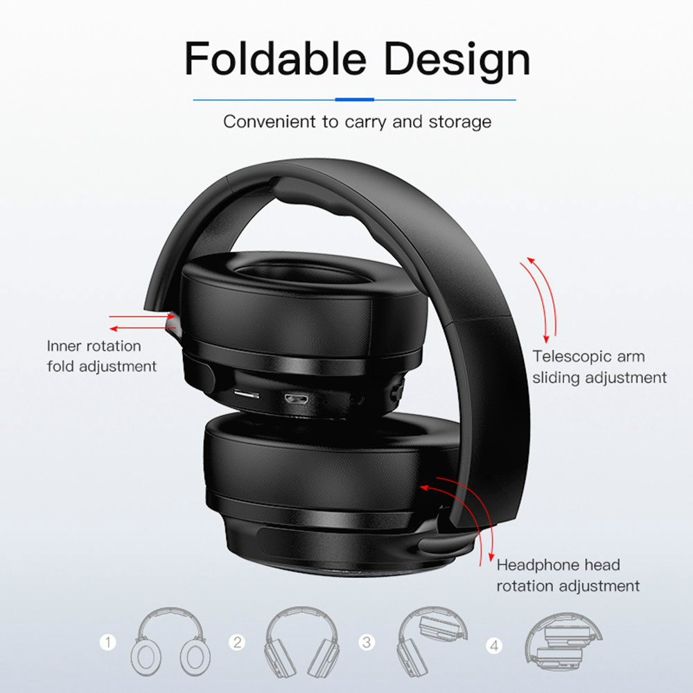 on-ear-over-ear-headphones AWEI A780BL Foldable Bluetooth 5.0 Headphone IPX5 Water Resistant AWEI A780BL Foldable Bluetooth 5.0 Headphone IPX5 Water Resistant Black 2