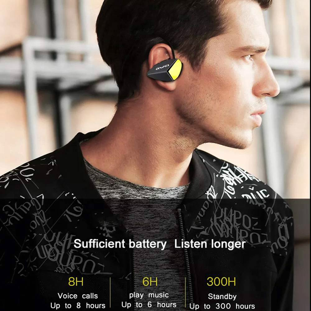 earbud-headphones AWEI A887BL Bluetooth Earphones IPX4 Water Resistant-Black AWEI A887BL Bluetooth Earphones IPX4 Water Resistant Black 2