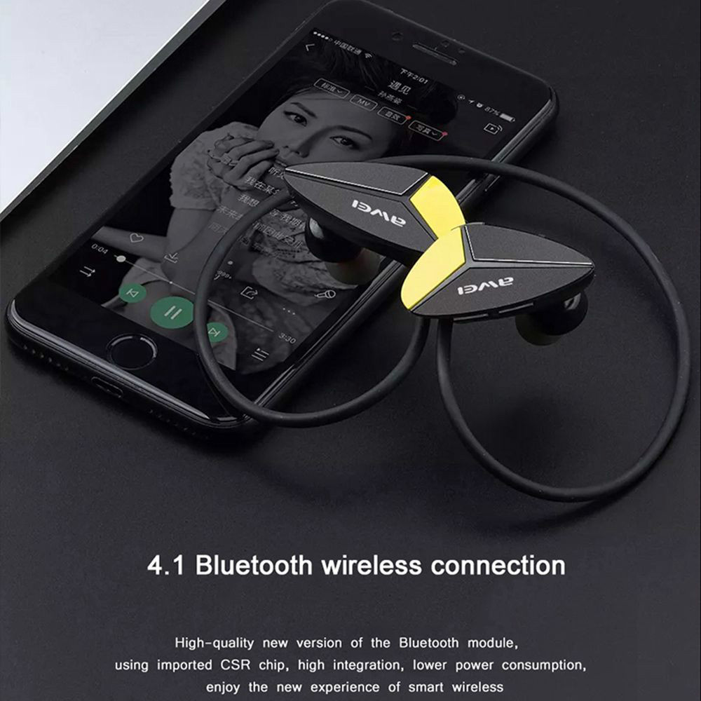 earbud-headphones AWEI A887BL Bluetooth Earphones IPX4 Water Resistant-Black AWEI A887BL Bluetooth Earphones IPX4 Water Resistant Black 3