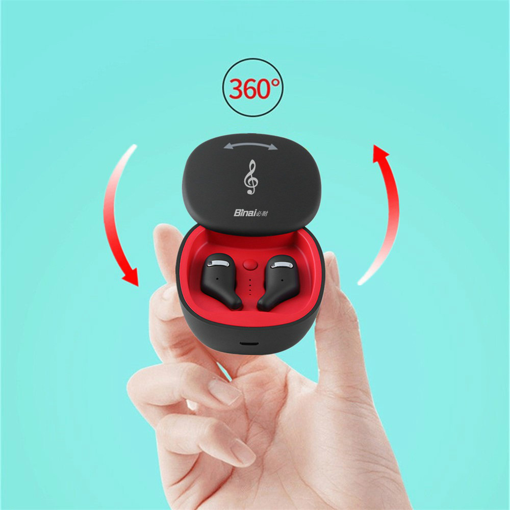 earbud-headphones BINANI Mini A8 TWS Bluetooth 5.0 Earbuds IPX5 Water Resistant BINANI Mini A8 TWS Bluetooth 5.0 Earbuds IPX5 Water Resistant 12