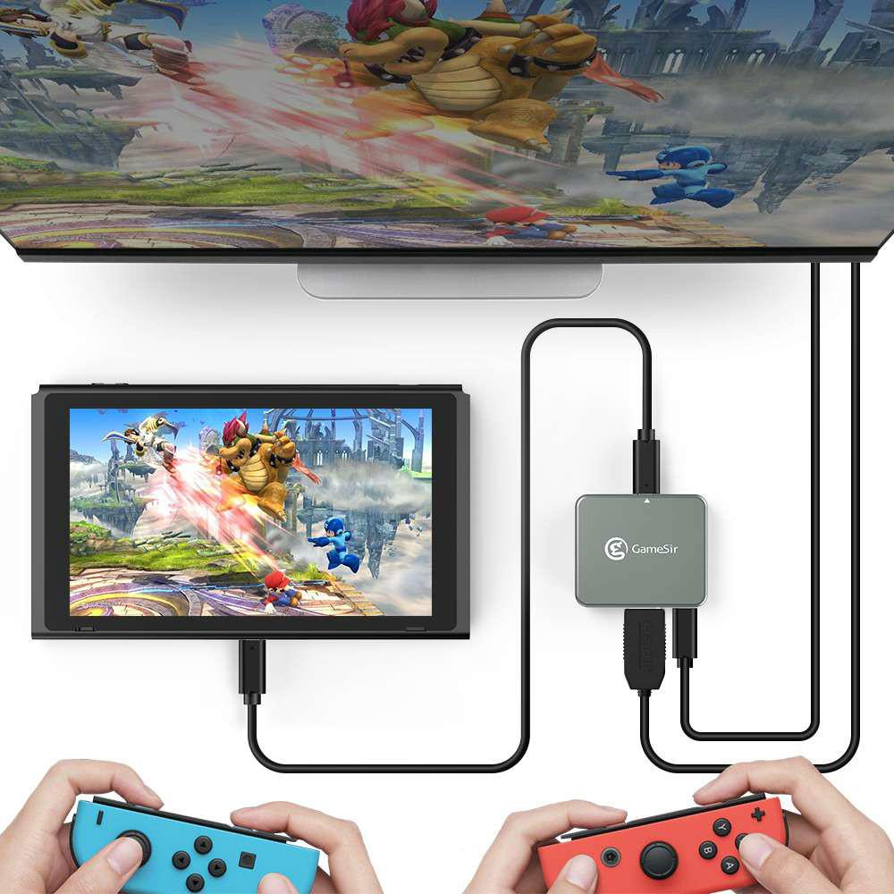 adapters GameSir GTV130 5-Port USB HUB 3*USB3.0 + 1*Type-C + 1* HDMI Ports Plug And Play-Gray GameSir GTV130 5 Port USB HUB 3 USB3.01Type C1 HDMI Ports Plug And Play Gray 2