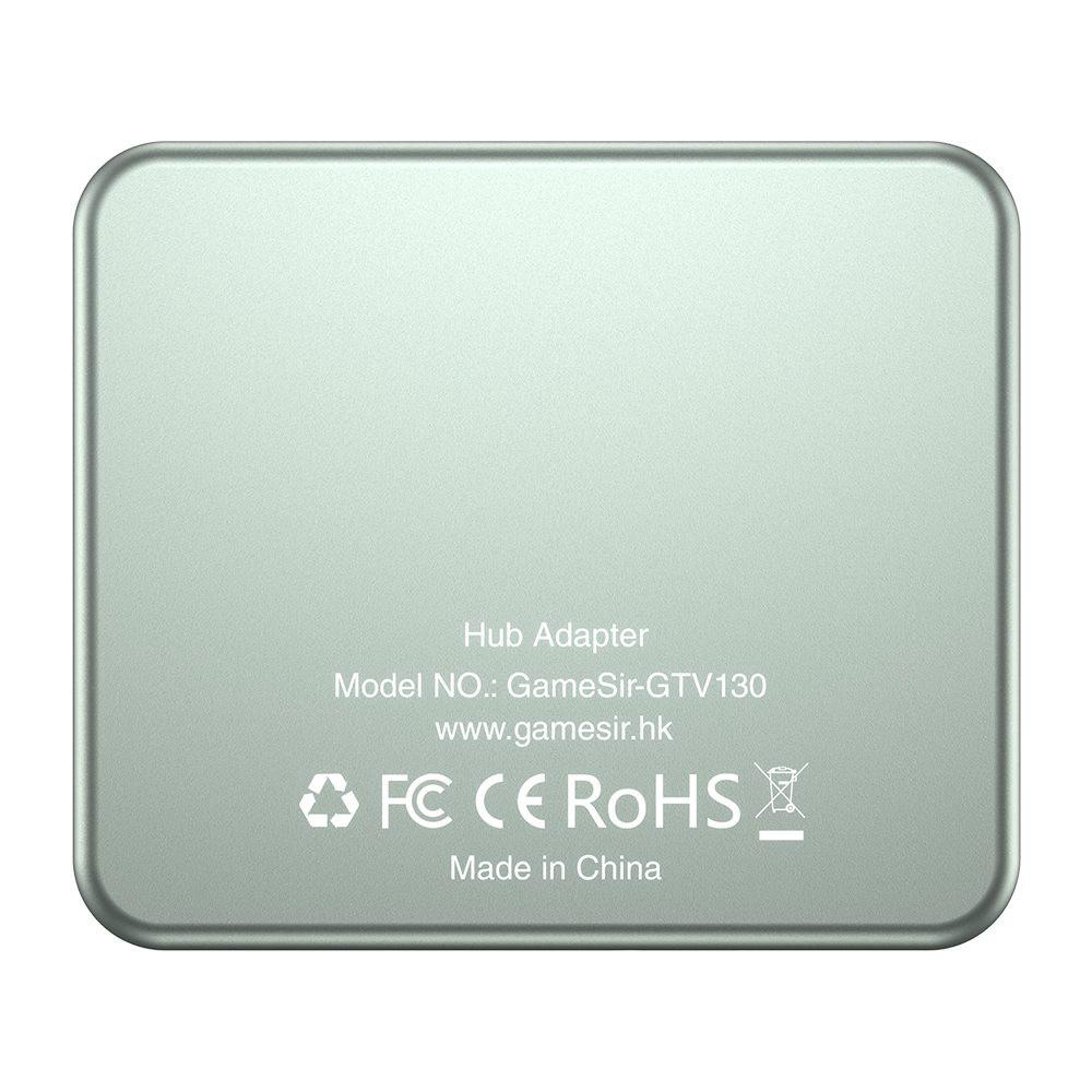 adapters GameSir GTV130 5-Port USB HUB 3*USB3.0 + 1*Type-C + 1* HDMI Ports Plug And Play-Gray GameSir GTV130 5 Port USB HUB 3 USB3.01Type C1 HDMI Ports Plug And Play Gray 6