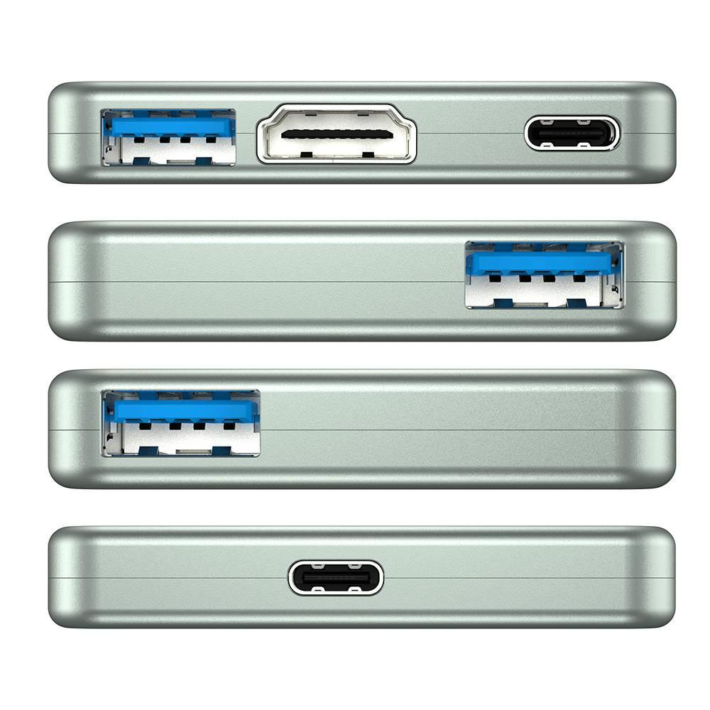 adapters GameSir GTV130 5-Port USB HUB 3*USB3.0 + 1*Type-C + 1* HDMI Ports Plug And Play-Gray GameSir GTV130 5 Port USB HUB 3 USB3.01Type C1 HDMI Ports Plug And Play Gray 7