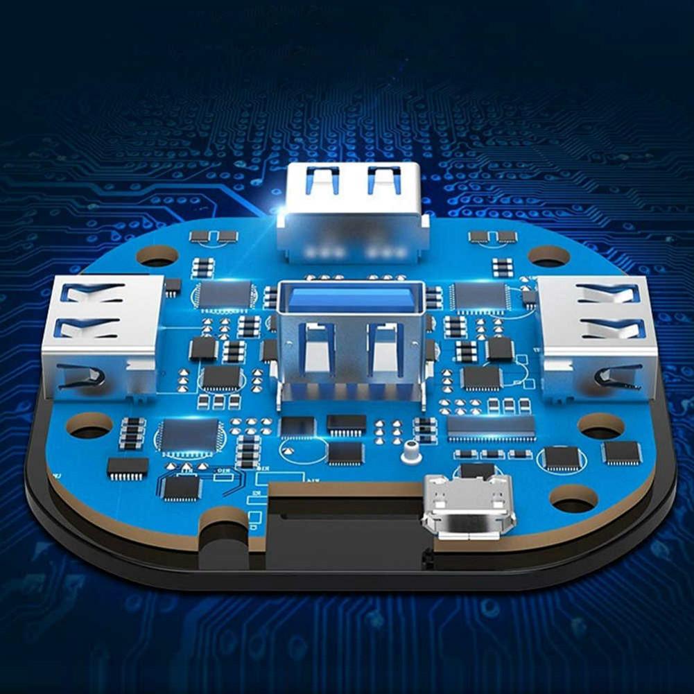 adapters Joyroom S-M371 Distributor 4 Ports Data USB 3.0 HUB Type-C Transfer Speed Fast 19.6 inch Support Extenders-Black Joyroom S M371 Distributor 4 Ports Data USB 3.0 HUB Type C Transfer Speed Fast 19.6 inch Support Extenders Black 5