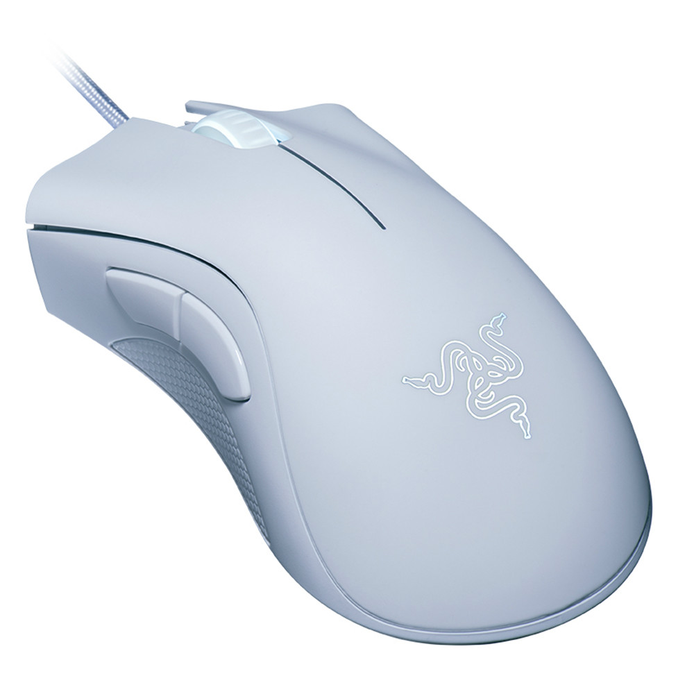 wired-mouse Razer DeathAdder Essential Optical Professional Grade Gaming Mouse Ergonomic 6400 Adjustable DPI-White Razer DeathAdder Essential Optical Professional Grade Gaming Mouse Ergonomic 6400 Adjustable DPI White 2