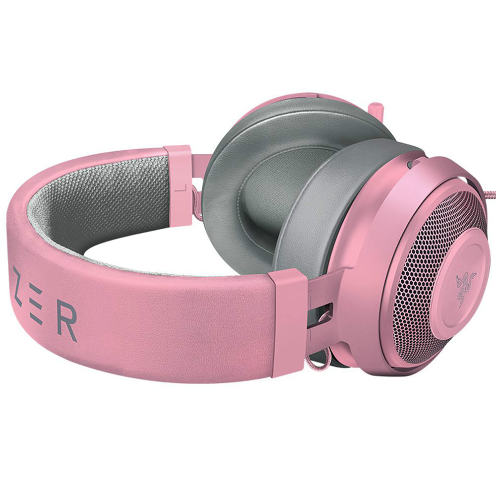 on-ear-over-ear-headphones Razer Kraken Gaming Headset Compatible with PC Mac Xbox One*PS4 Nintendo Switch-Quartz Pink Razer Kraken Gaming Headset Compatible with PC Mac Xbox One PS4 Nintendo Switch Quartz Pink 2