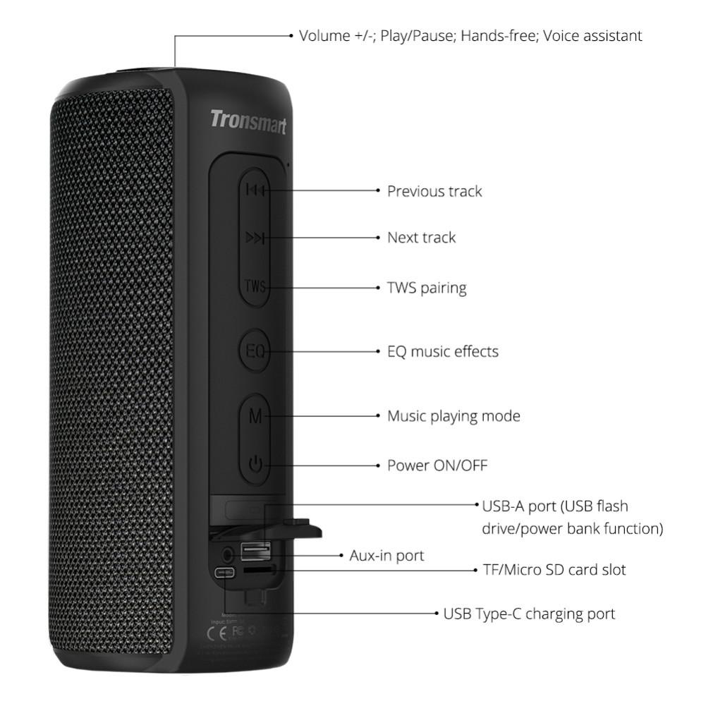 bluetooth-speakers Tronsmart Element T6 Plus SoundPulse™ Portable Bluetooth Speaker with 40W Max Output Deep Bass IPX6 Waterproof-Black Tronsmart Element T6 Plus SoundPulse™ Portable Bluetooth Speaker with 40W Max Output Deep Bass IPX6 Waterproof Black 11