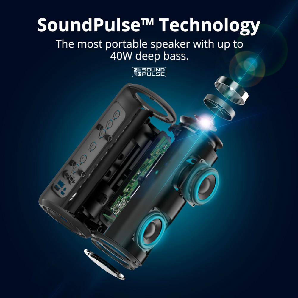 bluetooth-speakers Tronsmart Element T6 Plus SoundPulse™ Portable Bluetooth Speaker with 40W Max Output Deep Bass IPX6 Waterproof-Black Tronsmart Element T6 Plus SoundPulse™ Portable Bluetooth Speaker with 40W Max Output Deep Bass IPX6 Waterproof Black 2