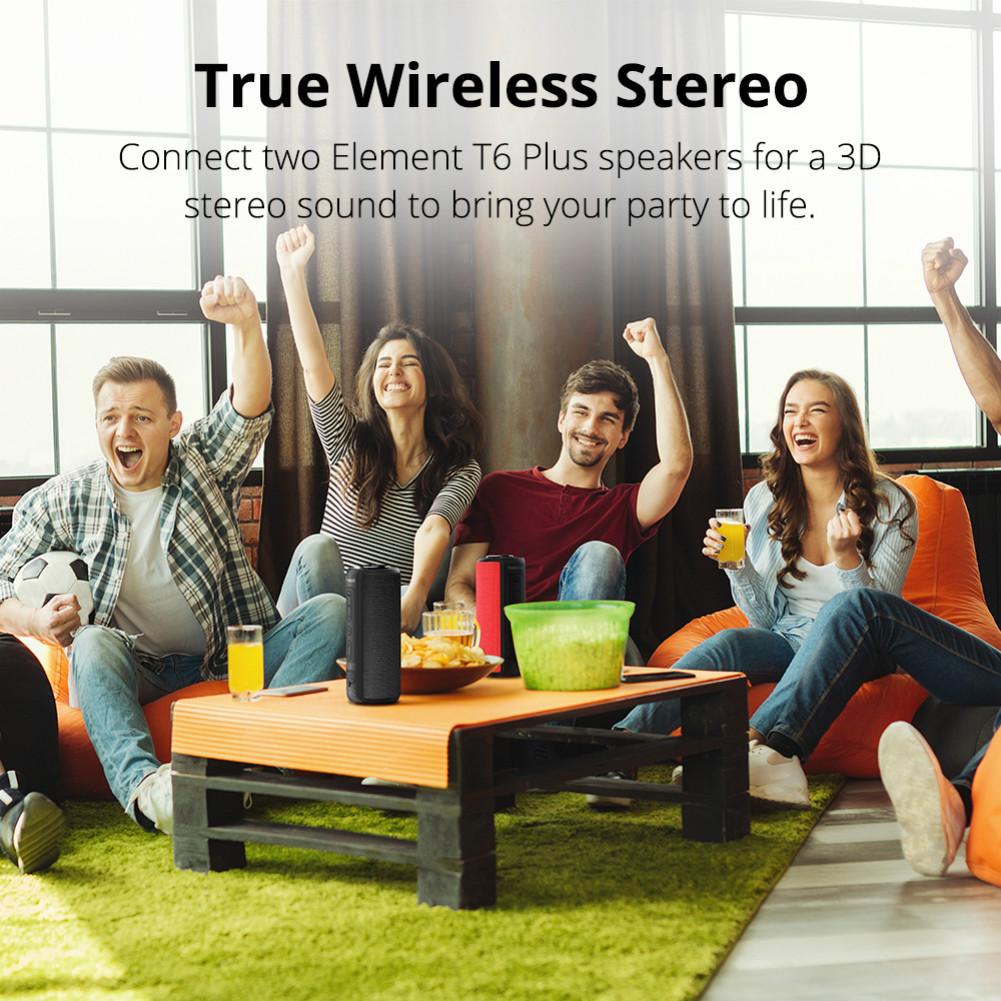 bluetooth-speakers Tronsmart Element T6 Plus SoundPulse™ Portable Bluetooth Speaker with 40W Max Output Deep Bass IPX6 Waterproof-Black Tronsmart Element T6 Plus SoundPulse™ Portable Bluetooth Speaker with 40W Max Output Deep Bass IPX6 Waterproof Black 6