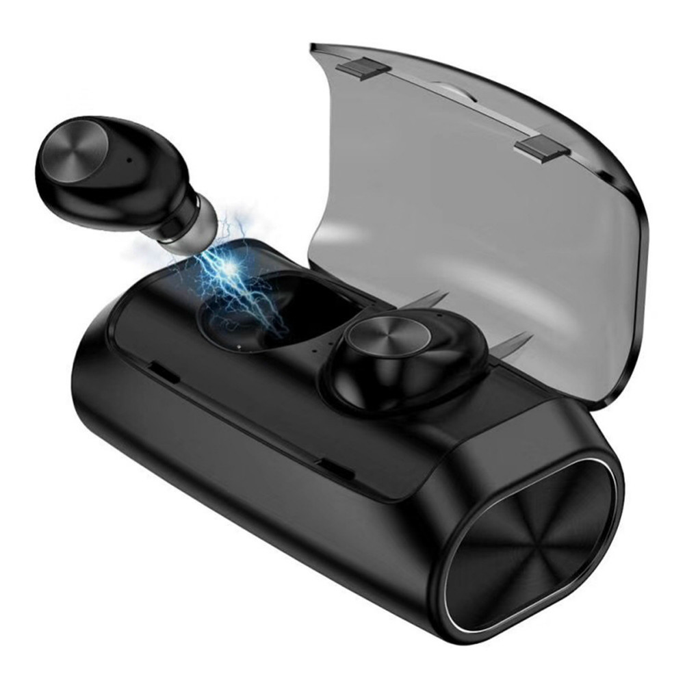 earbud-headphones V6 TWS Bluetooth 5.0 Earbuds 2600mAh Support Charging for Phones About 5 Hours Working Time Noise Reduction-Black V6 TWS Bluetooth 5.0 Earbuds 2600mAh Support Charging for Phones About 5 Hours Working Time Noise Reduction Black 1