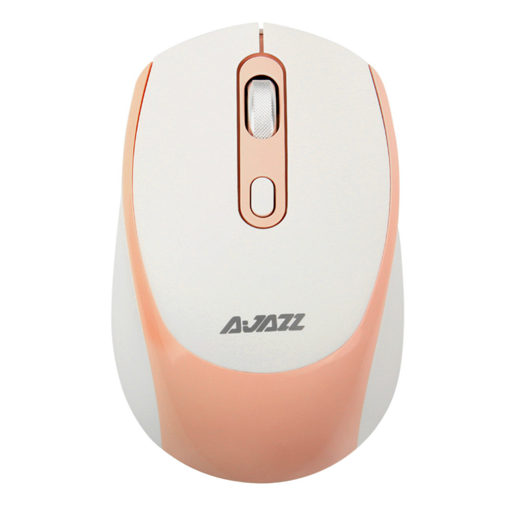 wireless-mouse Ajazz 120I 1600DPI Adjustable 2.4G Wireless Mouse Office Gamer Ergonomics-Pink Ajazz 120I Adjustable 2 4G Wireless Mouse Pink