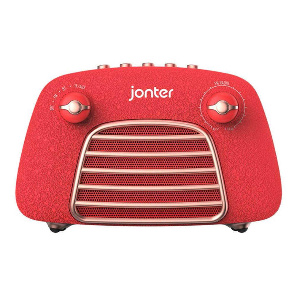 bluetooth-speakers JONTER M1 Wireless Bluetooth 4.2 Speaker Subwoofers Loudspeakers Radio-Red JONTER M1 Bluetooth Speaker Red