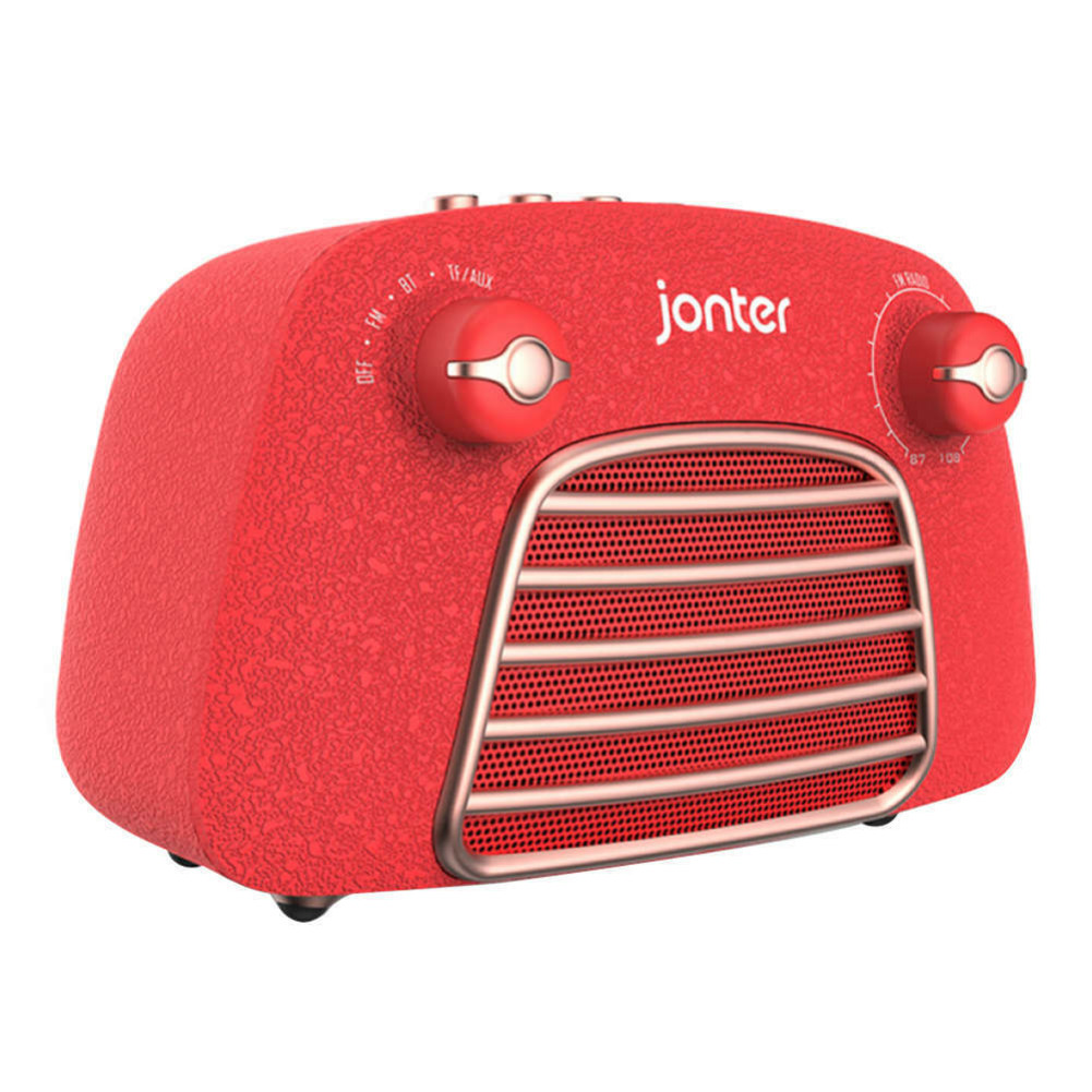 bluetooth-speakers JONTER M1 Wireless Bluetooth 4.2 Speaker Subwoofers Loudspeakers Radio-Red JONTER M1 Bluetooth Speaker Red 1