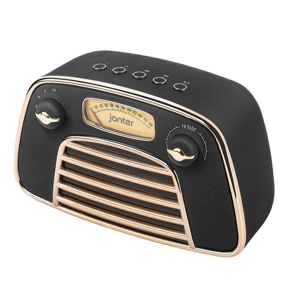bluetooth-speakers JONTER M3 Wireless Bluetooth 4.2 Speaker Subwoofers Loudspeakers Radio-Black JONTER M3 Bluetooth Speaker Black 1