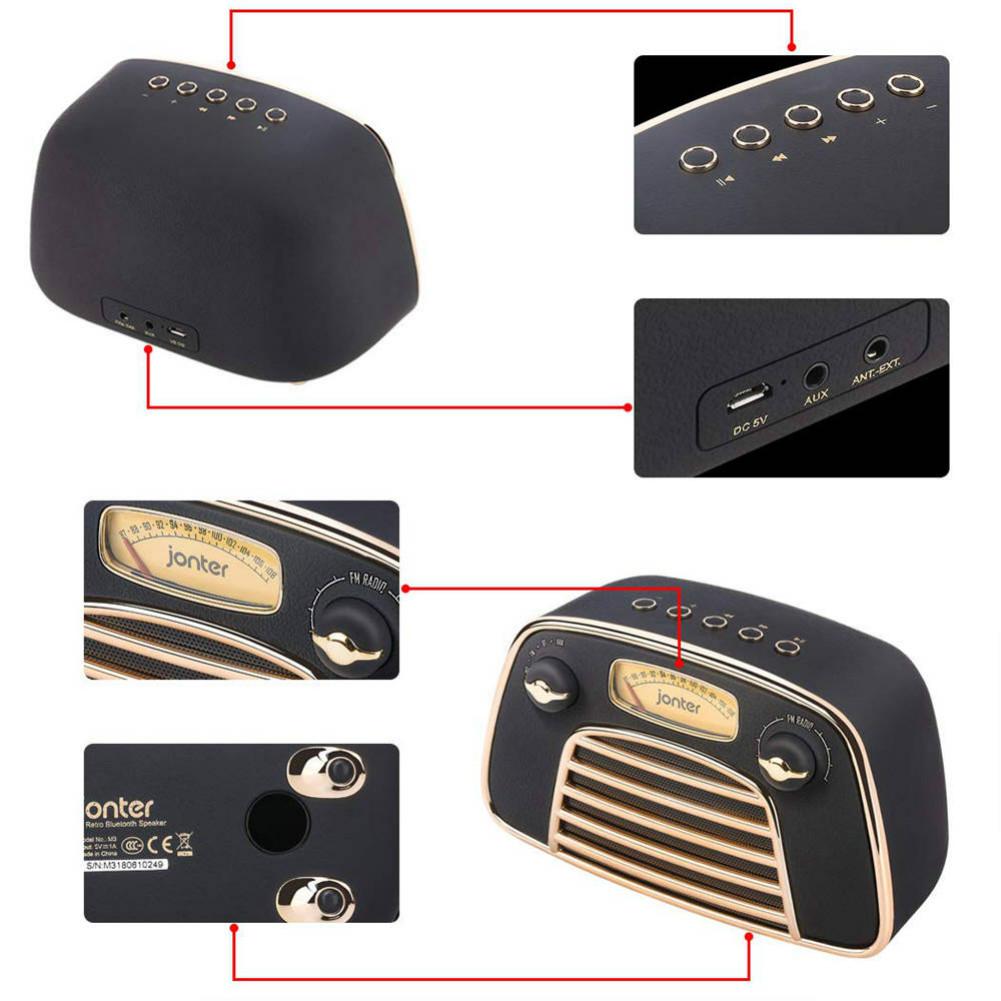 bluetooth-speakers JONTER M3 Wireless Bluetooth 4.2 Speaker Subwoofers Loudspeakers Radio-Black JONTER M3 Bluetooth Speaker Black 5