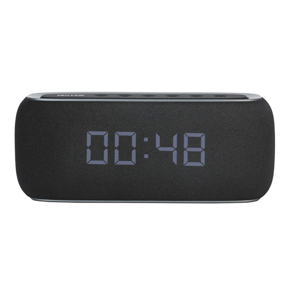 bluetooth-speakers JONTER M46 Portable Bluetooth Speaker with Time Display FM Radio-Black JONTER M46 Portable Bluetooth Speaker Black 1