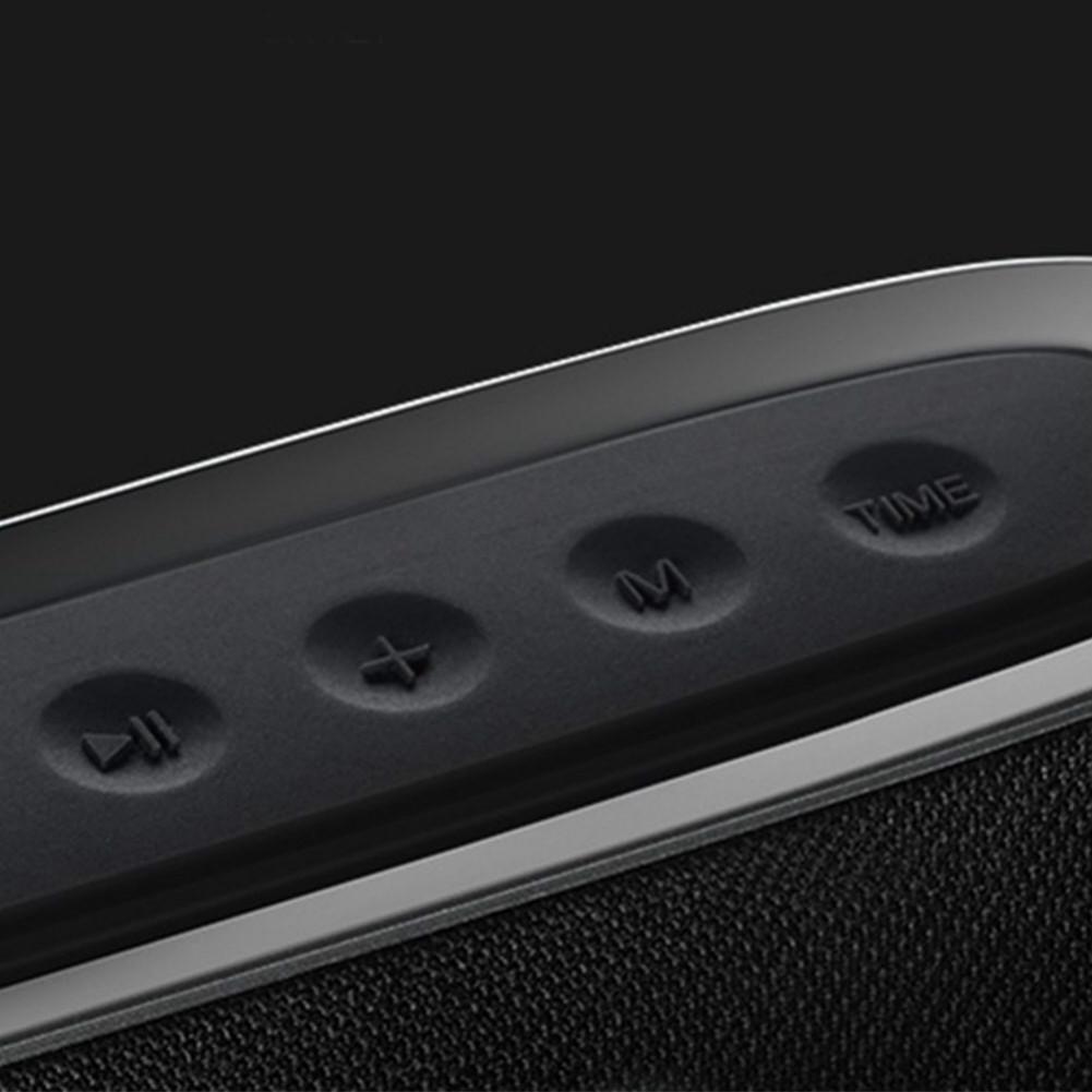bluetooth-speakers JONTER M46 Portable Bluetooth Speaker with Time Display FM Radio-Black JONTER M46 Portable Bluetooth Speaker Black 4