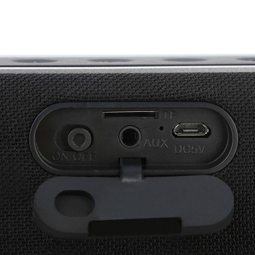 bluetooth-speakers JONTER M46 Portable Bluetooth Speaker with Time Display FM Radio-Black JONTER M46 Portable Bluetooth Speaker Black 5