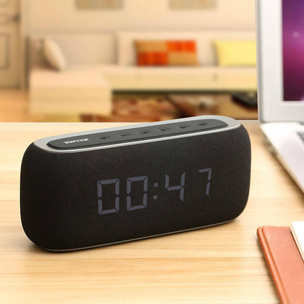 bluetooth-speakers JONTER M46 Portable Bluetooth Speaker with Time Display FM Radio-Black JONTER M46 Portable Bluetooth Speaker Black 6
