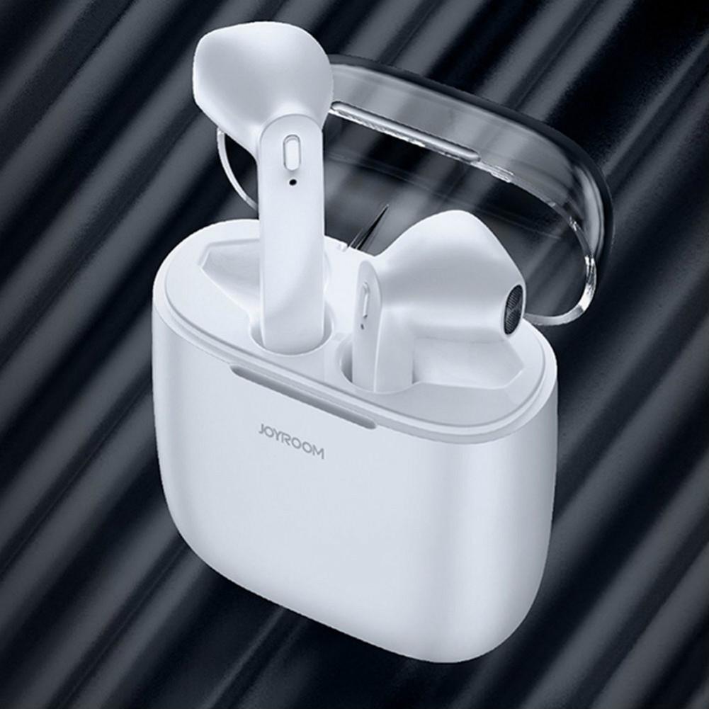 earbud-headphones JOYROOM JR-T04 TWS Bluetooth Earbuds with Mic IPX5 Water Resistant-White JOYROOM JR T04 TWS Bluetooth Earbuds White 1
