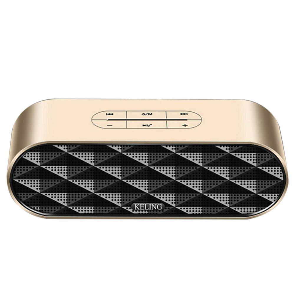 bluetooth-speakers KELING F4 Portable Bluetooth Speaker Dual Bass-Gold KELING F4 Portable Bluetooth Speaker Dual Bass Gold 1