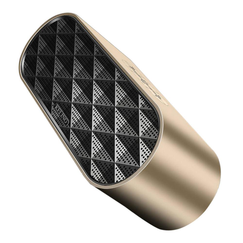 bluetooth-speakers KELING F4 Portable Bluetooth Speaker Dual Bass-Gold KELING F4 Portable Bluetooth Speaker Dual Bass Gold 2