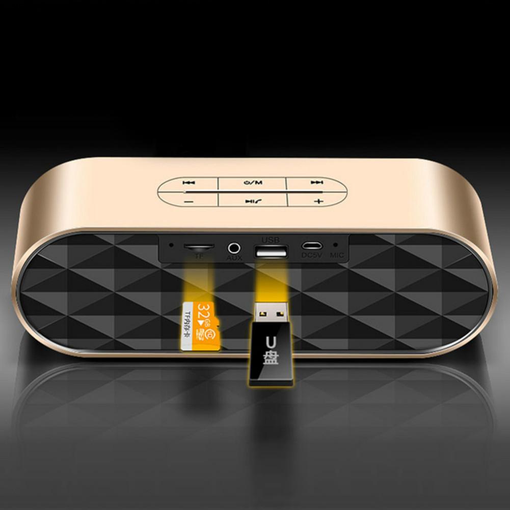 bluetooth-speakers KELING F4 Portable Bluetooth Speaker Dual Bass-Gold KELING F4 Portable Bluetooth Speaker Dual Bass Gold 3