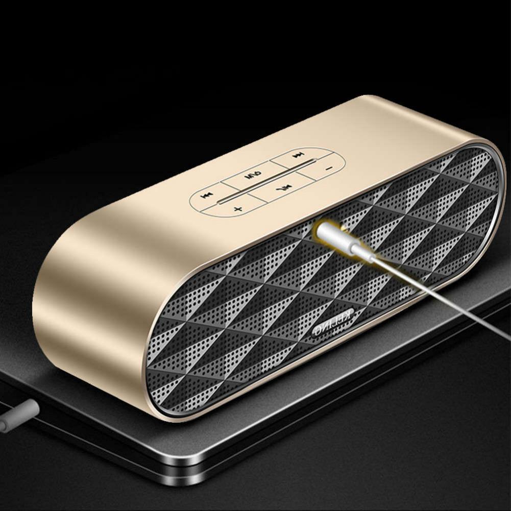 bluetooth-speakers KELING F4 Portable Bluetooth Speaker Dual Bass-Gold KELING F4 Portable Bluetooth Speaker Dual Bass Gold 4