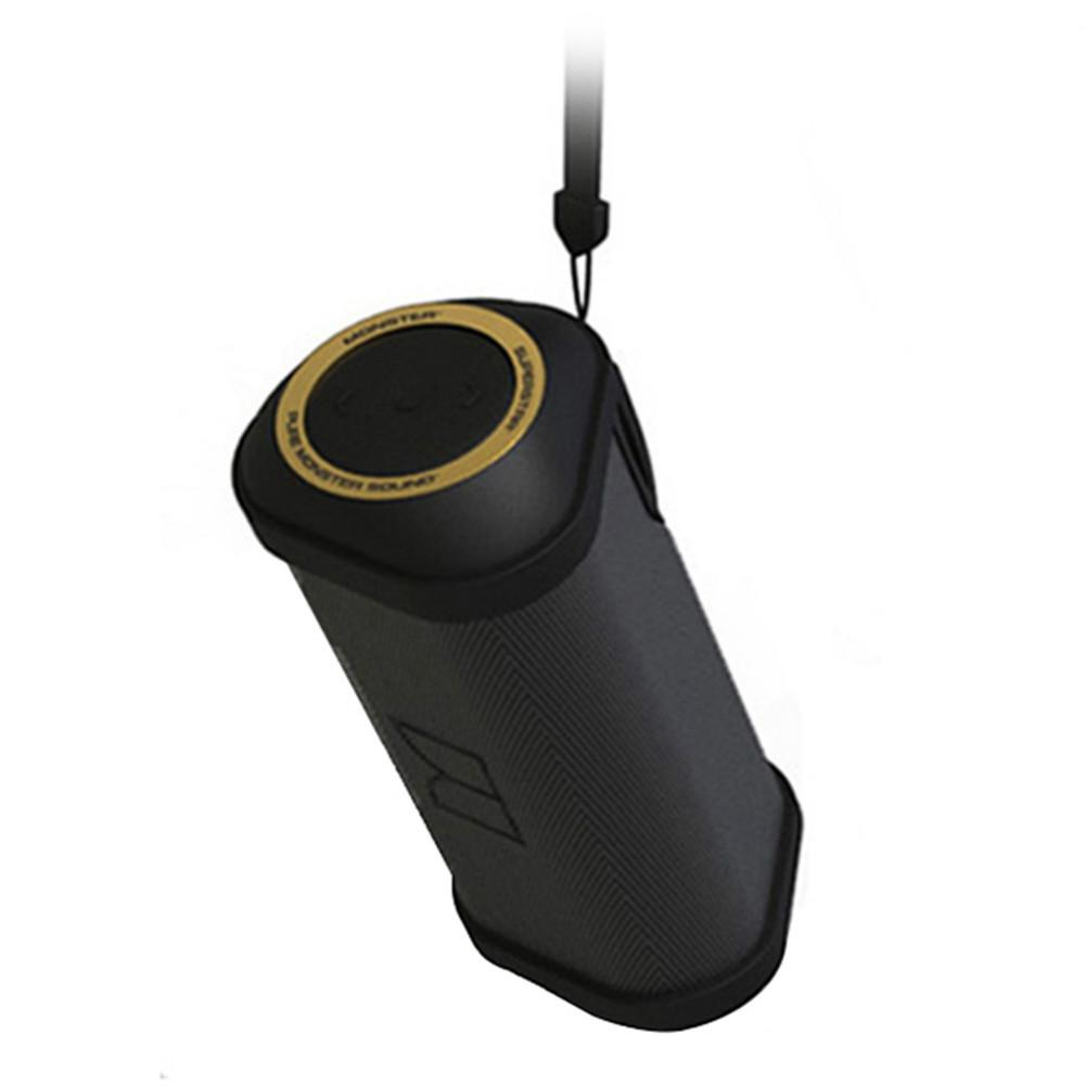 bluetooth-speakers Monster FireCracker Portable Bluetooth Speaker IPX5 Water Resistant-Black Monster FireCracker Portable Bluetooth Speaker Black 2