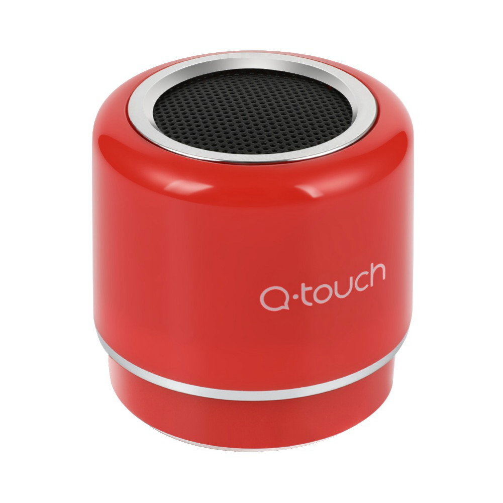 bluetooth-speakers-Q.Touch QBS-02 Bluetooth Speaker Waterproof 360 Degrees Sound-Red-Q Touch QBS 02 Bluetooth Speaker Red