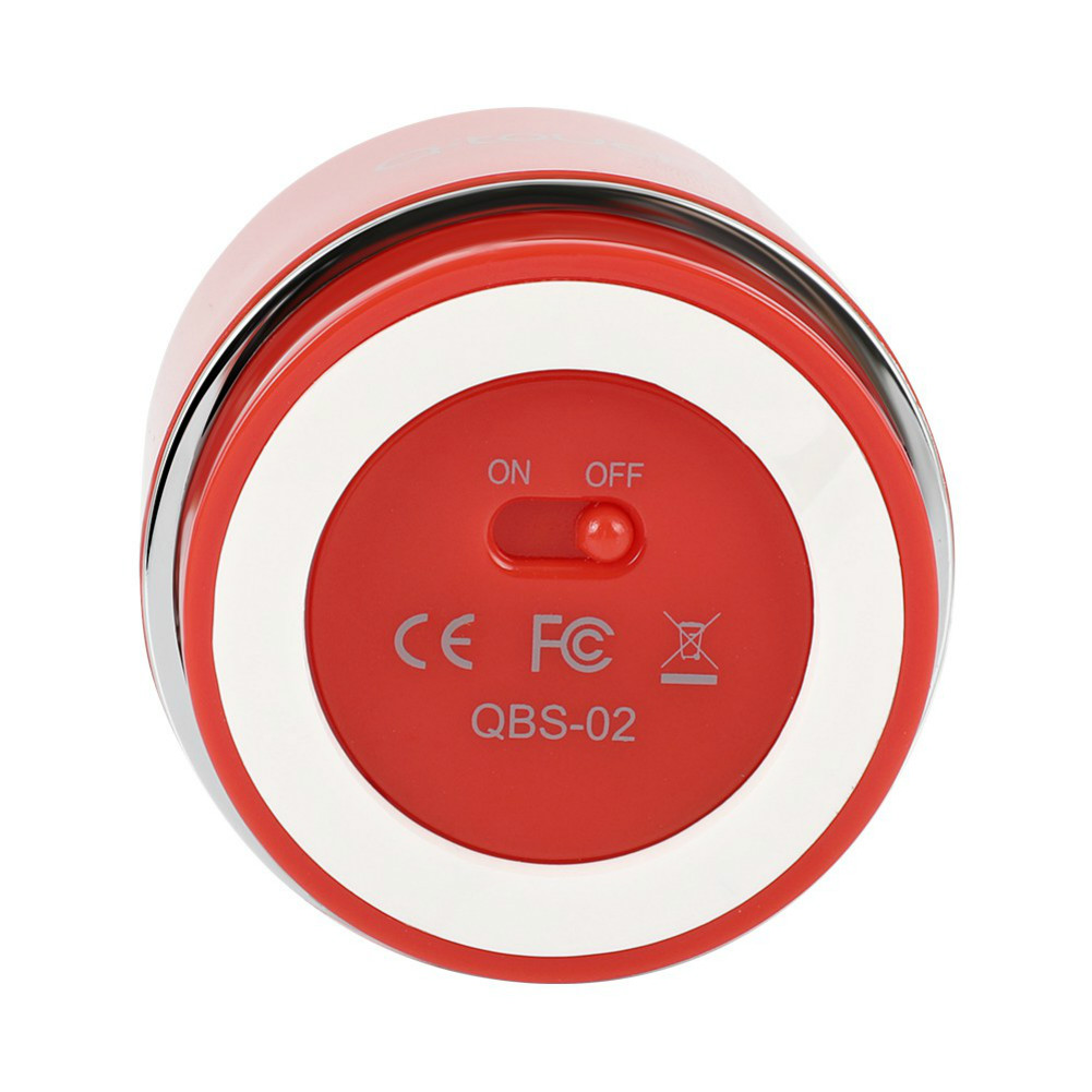 bluetooth-speakers Q.Touch QBS-02 Bluetooth Speaker Waterproof 360 Degrees Sound-Red Q Touch QBS 02 Bluetooth Speaker Red 3