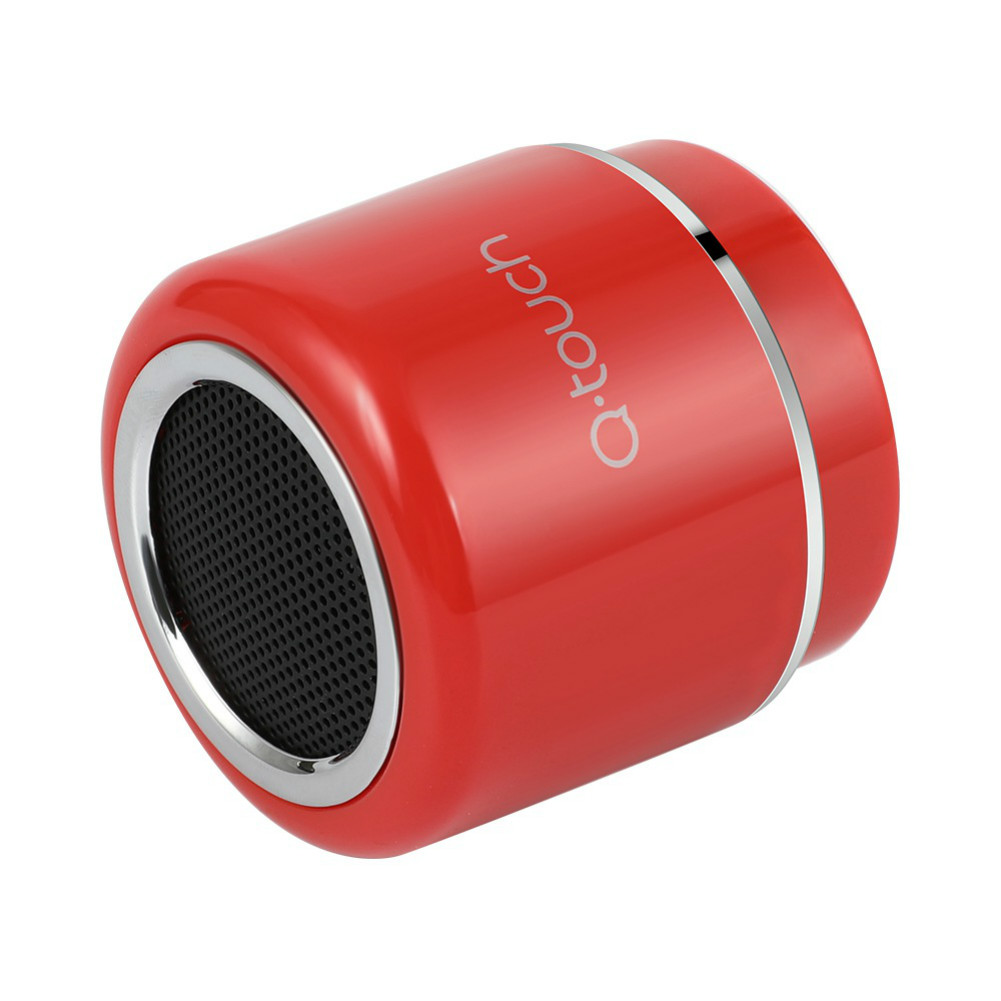 bluetooth-speakers Q.Touch QBS-02 Bluetooth Speaker Waterproof 360 Degrees Sound-Red Q Touch QBS 02 Bluetooth Speaker Red 5