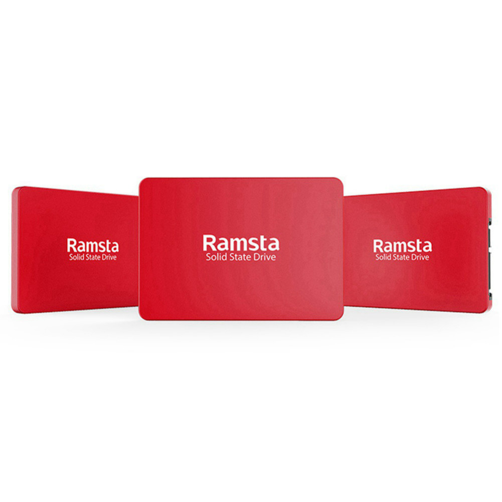 storage Ramsta R800 120GB SATA3 High Speed SSD Solid State Drive Hard Disk 2.5 Inch Sequential Read 562MB/s-Red Ramsta R800 120GB SATA3 High Speed SSD Red 1