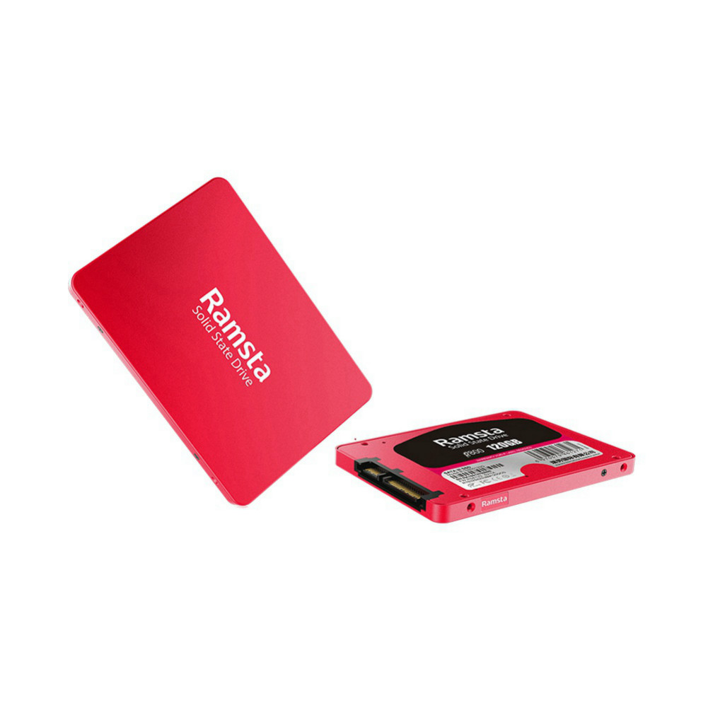 storage Ramsta R800 120GB SATA3 High Speed SSD Solid State Drive Hard Disk 2.5 Inch Sequential Read 562MB/s-Red Ramsta R800 120GB SATA3 High Speed SSD Red 2