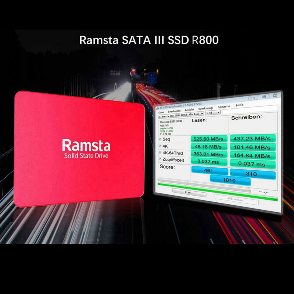 storage Ramsta R800 120GB SATA3 High Speed SSD Solid State Drive Hard Disk 2.5 Inch Sequential Read 562MB/s-Red Ramsta R800 120GB SATA3 High Speed SSD Red 6
