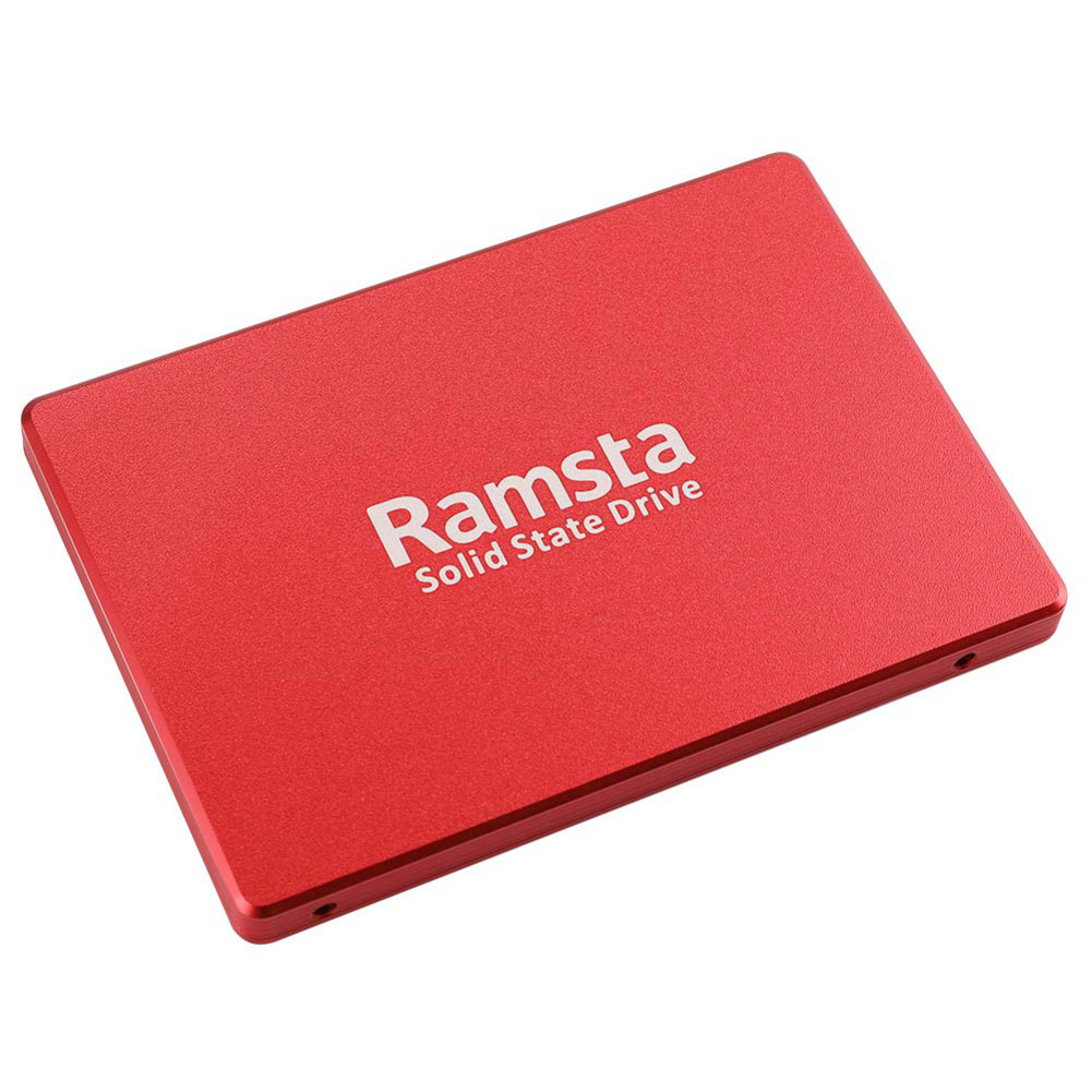 storage Ramsta S800 480GB SATA3 High Speed SSD Solid State Drive Hard Disk 2.5 Inch Sequential Read 562MB/s-Red Ramsta S800 480GB SATA3 High Speed SSD Solid State Drive Hard Disk