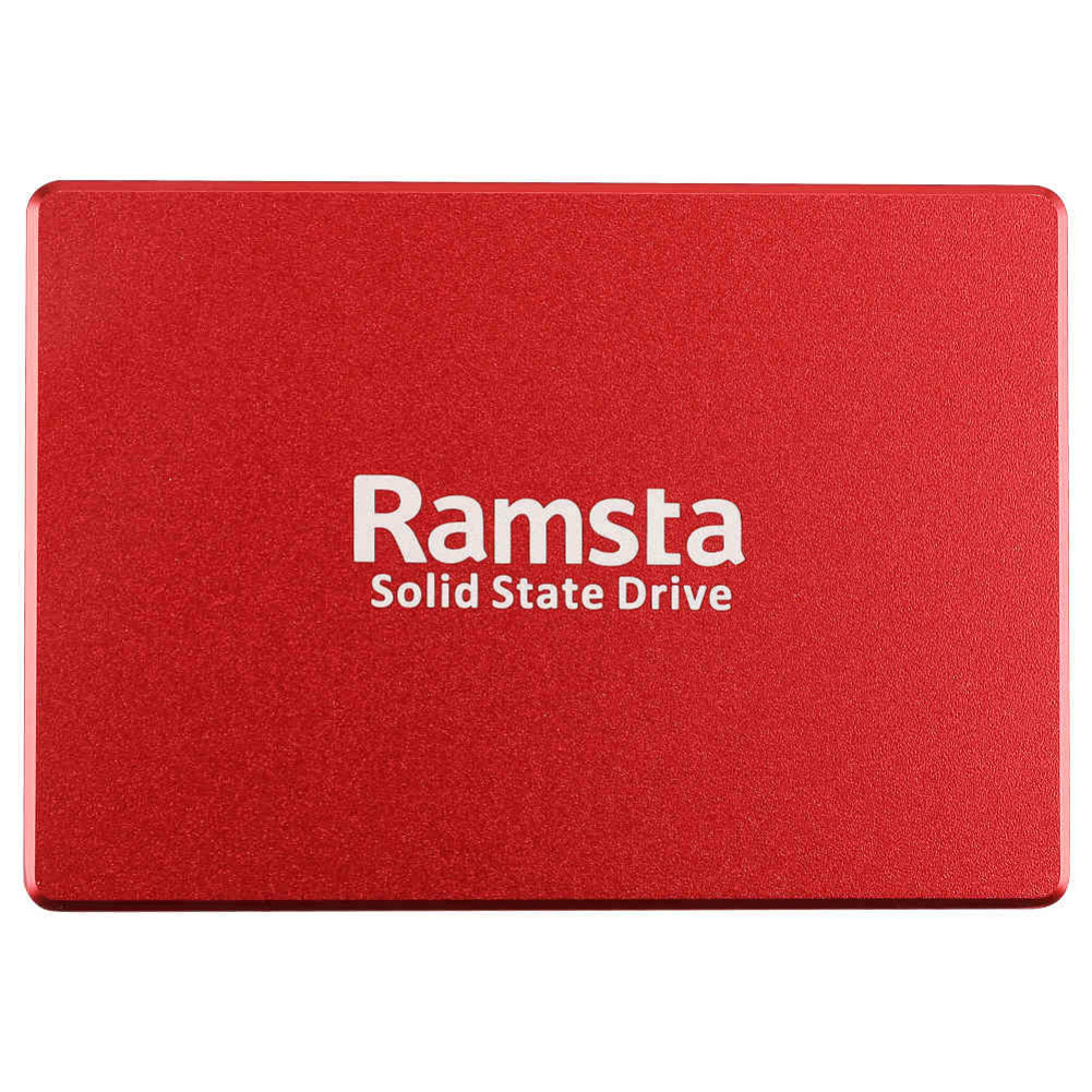 storage Ramsta S800 480GB SATA3 High Speed SSD Solid State Drive Hard Disk 2.5 Inch Sequential Read 562MB/s-Red Ramsta S800 480GB SATA3 High Speed SSD Solid State Drive Hard Disk 1