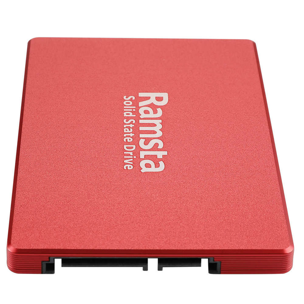 storage Ramsta S800 480GB SATA3 High Speed SSD Solid State Drive Hard Disk 2.5 Inch Sequential Read 562MB/s-Red Ramsta S800 480GB SATA3 High Speed SSD Solid State Drive Hard Disk 3