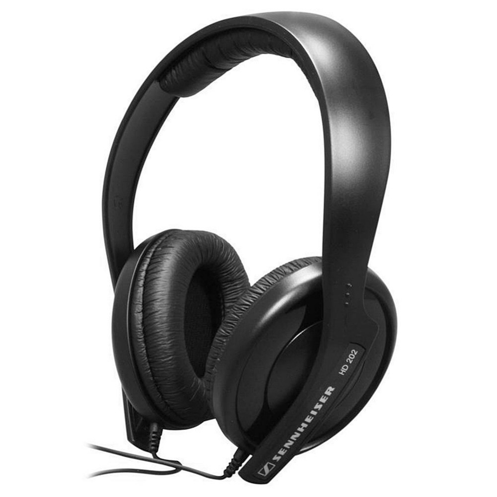 on-ear-over-ear-headphones Sennheiser HD 202 II Wired Headphone HiFi Stereo-Black Sennheiser HD 202 II Wired Headphone HiFi Stereo Black