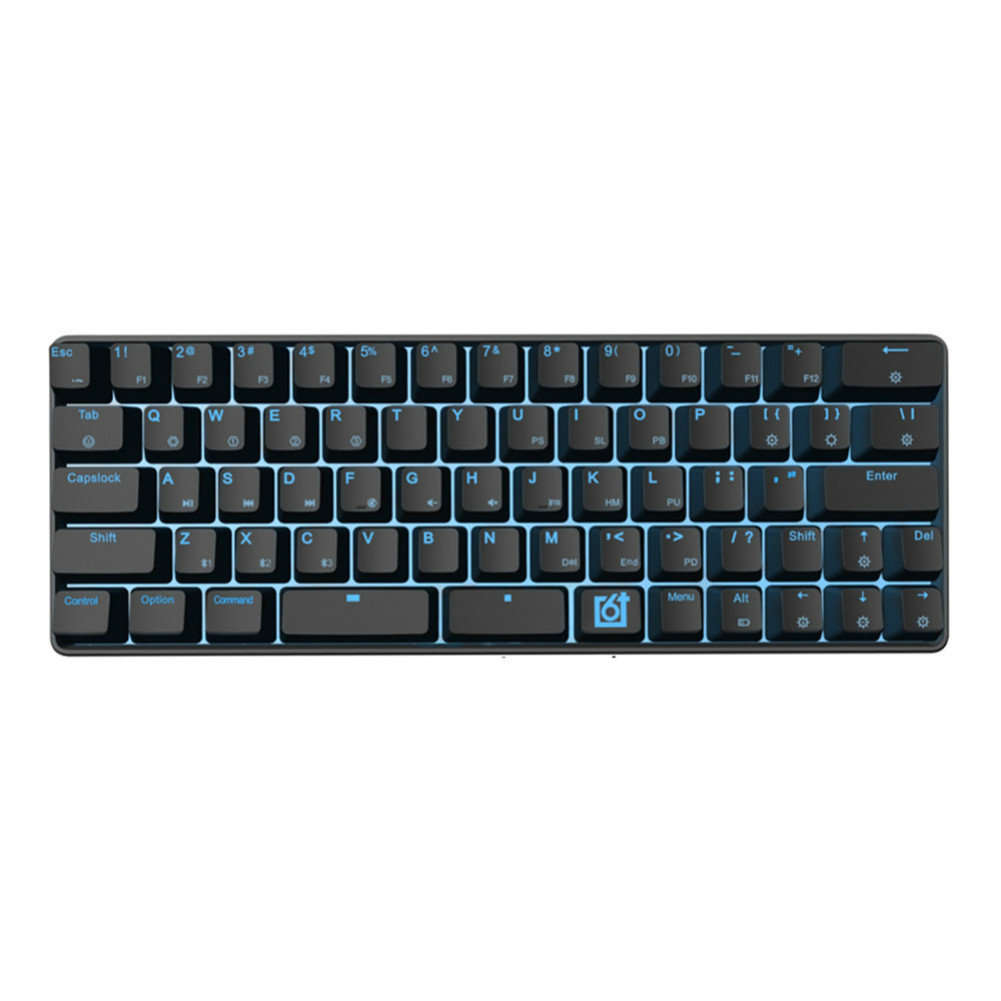 wired-keyboards GK66 RGB Mechanical Gaming Keyboard Blue Switch Type-C Swappable-Wireless Skyloog GK66 Bluetooth version Mechanical keyboard Black 1