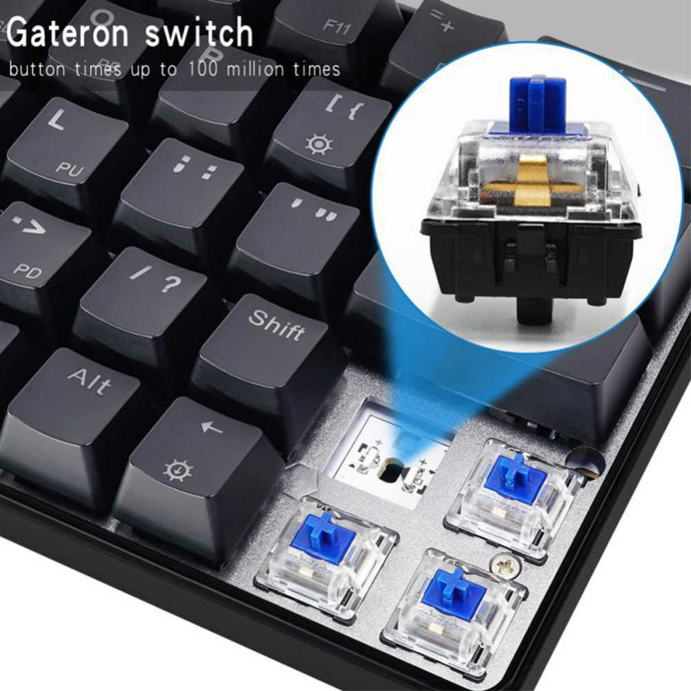 wired-keyboards GK66 RGB Mechanical Gaming Keyboard Blue Switch Type-C Swappable-Wireless Skyloog GK66 Bluetooth version Mechanical keyboard Black 5