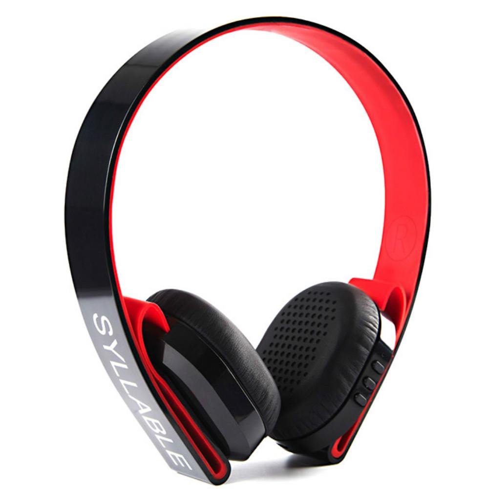 on-ear-over-ear-headphones Syllable G600 Wireless Bluetooth 4.0 Headphone Earphone Deep Bass Built-in Mic / 40mm Speaker-Black+Red Syllable G600 Wireless Bluetooth Headphone