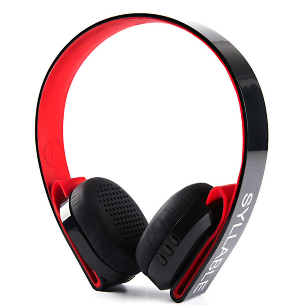 on-ear-over-ear-headphones Syllable G600 Wireless Bluetooth 4.0 Headphone Earphone Deep Bass Built-in Mic / 40mm Speaker-Black+Red Syllable G600 Wireless Bluetooth Headphone 2
